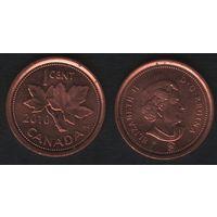 Канада _km490 1 цент 2010 год km490 не магнит ZnCu (f32)*