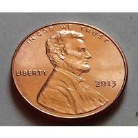 1 цент США 2013, 2013 D, AU