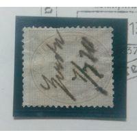 Германия 1872г  стандарт 10 грош, гашение чернилами Mi 12