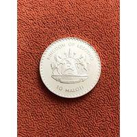 Лесото 10 малоти 1982 г., серебро