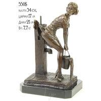 """Бронзовая Скульптура / Статуэтка """"Изгибающаяся Сексуальная Девушка"""" Франция. A.L. Habert (1824-1893) Эл. почта (Нет в наличии, под заказ)"""