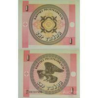 Киргизия 1 тыйын 1993г.   состояние распродажа