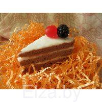 Силиконовая форма для мыла свечей гипса Кусок торта