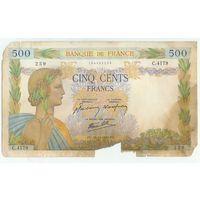 Франция, 500 франков 1941 год.  - RедкаЯ -