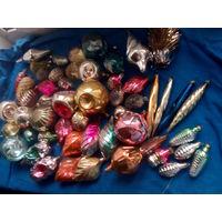 Большой лот новогодних игрушек одним лотом с 10 рублей!!!