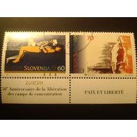Словения 1995г. Европа мир и свобода
