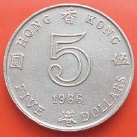 5 долларов 1986 ГОНКОНГ