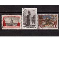 СССР-1955, (Заг.1719-1721),  гаш. , Договор между СССР и Польшей
