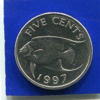 Бермудские острова , Бермуды 5 центов 1997