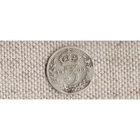Великобритания 3 пенса 1900 Виктория(Sp)