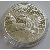 """Токелау 2020 серебро (1 oz) """"Летучие рыбы"""""""