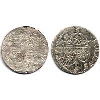 Шеляг 1615, Сигизмунд III Ваза, Вильно. Рв. - штемпельный блеск
