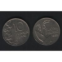 Финляндия km65 10 пенни 1993 год (M) (f34)