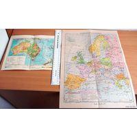 Политическая карта Западной Европы. 1955г.