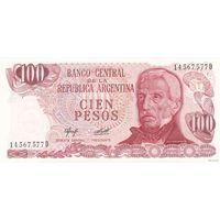 Аргентина100 песо 1983 (ПРЕСС)