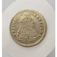 Княжество Бранденбург-Пруссия. Фридрих III. Три гроша 1696 г. Хорошее состояние!