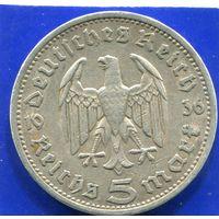 Германия 5 марок 1936 А , серебро