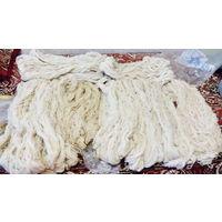 Пряжа-нитки из овчины, деревенские, ручной работы
