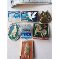 Винтаж,значки из СССР птиц-животных