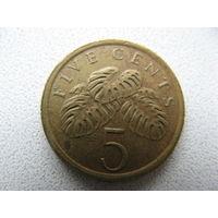Сингапур 5 центов 1988 г.