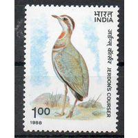 Фауна Птица Индия 1988 год чистая серия из 1 марки (М)