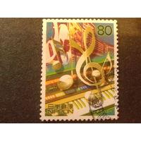 Япония 2000 синтезатор, музыка, марка из блока