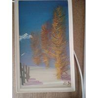 Картина кипарисы