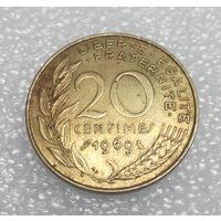 20 сантим 1969 Франция #01
