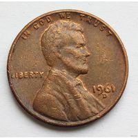 1 цент 1961 D