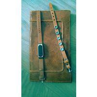 Кожаный клатч + кожаный футляр