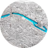 "RARE Палау 20 долларов 2021г. Тиффани ""Tiffany Art: Метрополис - Париж Proof"". Монета в капсуле; подарочном футляре; сертификат; коробка. СЕРЕБРО 93,30гр.(3 oz)."