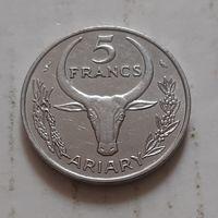 5 франков 1972 г. Мадагаскар
