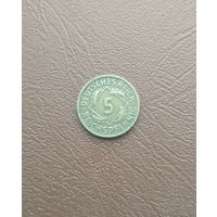 Германия / 5 reichspfennig (D) / 1924 год / 2