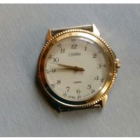 """Часы наручные мужские """"Слава"""" кварц, сделано в СССР (на 8 рубинах)"""