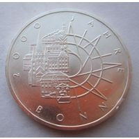 ФРГ. 10 марок 1989. Серебро. 106
