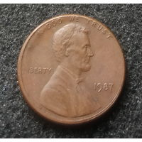 США, 1 цент 1987