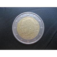 2 евро Бельгия 2010 знак гравера перо