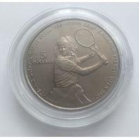 """Ниуэ, 5 долларов 1987 год """"Штефи Граф тенис"""", UNC"""