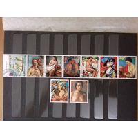 Парагвай 1978 Живопись Международные филателистические выставки полная серия 9 марок
