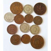 Португальские колонии. Мозамбик, Ангола, Сент Томе и Принсипи. 13 монет. Сборный лот.