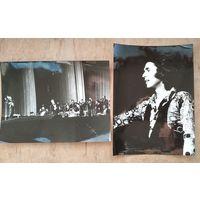 2 фото с концерта в Минске испанского певца Рафаэля. 1972 г. Фото И.Е.Горбацевича. 18х24 см. Цена за оба.