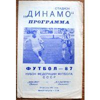 Динамо Минск - Жальгирис Вильнюс  1987 год  Кубок федерации