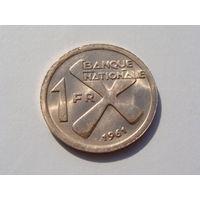 """Катанга. """"В наст. время Конго""""  1 франк 1961 год  KM#1"""