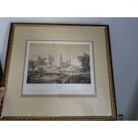 Литография Наполеон Орда Мирский замок оригинал
