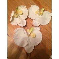 Классные орхидеи заколки на шпильке.