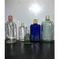 Бутылочки флаконы от одеколона одним лотом