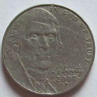 США. 5 центов 2007 P