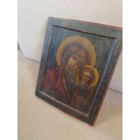 Старинная икона  Казанская Богородица. Рубежа 17-18 века. Ковчег.