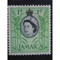 Английская Ямайка 1956 г. королева Елизавета II.