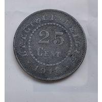 Бельгия 25 сантимов, 1918  5-7-22